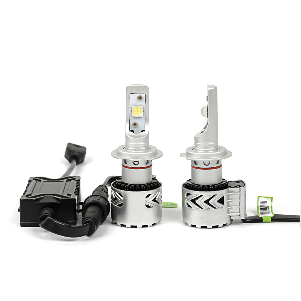 Светодиодные лампы Vizant 8S для линз цоколь H7 с чипом  CREE-XHP70 6000lm 5000k  (цена за 2 лампы) - купить в Москве и СПб, низкие цены, интернет-магазин